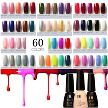 Brand 60 Colors Fast Dry UV Gel Nail Polish Long Lasting Sock Off Nails Gel Base and Top Coat UV Nail Art Pen 7ml