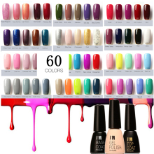 Brand 60 Colors Fast Dry UV Gel Nail Polish Long Lasting Sock Off Nails Gel Base and Top Coat UV Nail Art Pen 7ml(China)