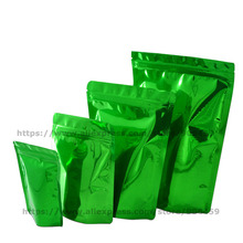 Buy 100 pcs Green Stand Aluminum Foil Bag Zip Lock Self Sealing Recycle Coffee Snack Tea Candy Biscuits Packaging Pouch for $11.70 in AliExpress store