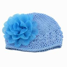 baby hats for girls New Flower Toddlers Infant Baby Girl Lace Hair Band Headband Headwear Hat winter cap baby bonnet topi bayi(China)