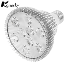 Konesky Dimmable 9*2W E27 PAR30 LED Bulb Small Spotlight Lamp Cool White AC 85-265V Led Dimmable Light 110V 120V 220V(China)
