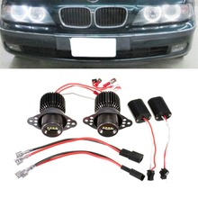 1 Pair 1200LM 20W R5 LED Angel Eye Light Halo Lamp For 09-11 E90 / E91 LCI Halogen Headlight Models