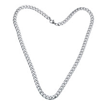 2017 Stainless Steel Braiding Necklace Hip Hop Mens Flat Figaro Chain Boys Curb Link Wholesale Gift Jewelry 19inch