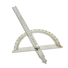 0-180 Degree Angle Ruler Round Head Rotary Protractor 150mm Adjustable Universal Stainless Steel Measuring Tool(China)