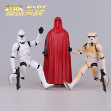 3pcs/lot Disney Star Wars Anakin Skywalker/Darth Vader First Order Stormtrooper hand office earners model doll toy Kids 16cm