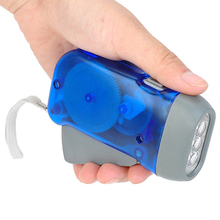 3 LEDs Hand Pressing Flashlight Traveling Torch Light Manual Generator Lamp Gift