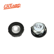 GHXAMP 2PCS 1 inch 2W Mini Round Speaker Bluetooth Speaker Stereo small speaker inside bottom magnetic pot PU(China)