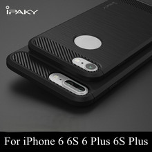 For iphone 6 Case Luxury Carbon Fiber Texture Brushed Soft Silicon TPU Back Phone Cover For Apple iphone 6 6s 6plus Cases Fundas