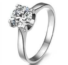 Wholesale 1 Ct Sterling Silver SONA simulate Diamond Rings For Women Engagement 18K Rose Gold Cover Wedding Ring Without Band(China)