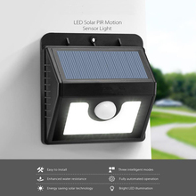 UniqueFire 1PCS!8 Leds Outdoor Waterproof Solar Light Solar Power Panel Wall Lamp PIR Solar Motion Sensor Solar Light For Garden