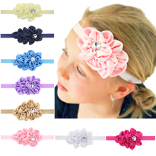 2017 Fashion 12 colors Flower diamond Hairband For newborn Headband  Hair Accessories H028