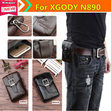 Genuine Leather Carry Belt Clip Pouch Waist Purse Case Cover for XGODY N8900 Smart Phone Bag /Cell phone Case Free  K3225