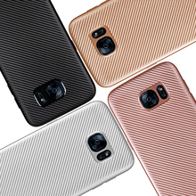 Luxury Soft Silicone Fiber Case for Samsung Galaxy A3 A5 A7 J1 J2 J3 J5 J7 2016 2017 Grand Prime S6 S7 Edge S8 Plus Phone Cases