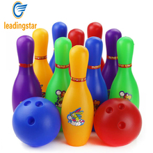 LeadingStar Children Bowling Game Toys Colorful Tenpins 2 Balls and 10 Pins Bowling Ball Set Plastic zk30(China)