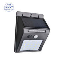 20LEDS high brightness led solar light Ip65 waterproof infrared sensor lamp solar outdoor wall light security for garden pathway(China)