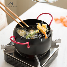 Life83 16/20/24 CM Frying Pan Creative Japanese Tempura Fryer Household Frying Pot General Use for Gas and Induction Cooker(China)