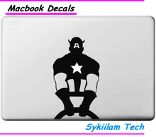 Cartoon Captain America for apple Sticker Macbook Skin Air 11 12 13 Pro 13 15 Retina Decal Loptop Wall Car Vinyl Logo Case