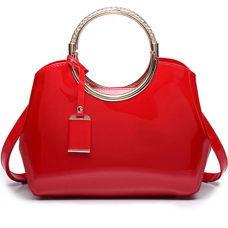 Luxury Designer Women Handbags Patent Leather Ladies Lacquered Messenger Female Bag Glossy Shoulder Crossbody Bag Evening Totes<br>