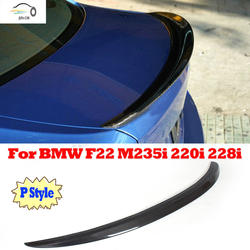 F22 Carbon Fiber Rear Wing Spoiler for BMW 2 Series F22 220i M235I 228i 2014 2015 2016 Auto Racing Car Tail Trunk Lip Spoiler<br><br>Aliexpress