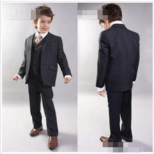 2017 Kid Boy Tuxedos Suits Clothing Handsome Wedding Party Boys  Formal  Occasion Suit Formal Attire (Jacket+Pants+Bow) 5347351893cf
