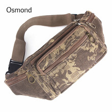 Osmond Selling Casual Canvas Multifunctional Camo Fanny Pack Pocket Pouch Travel Mobile phone bag Waist Hip Bum Belt Bags