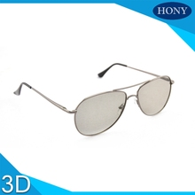 20pcs Light Weight Hard Mental Frame RealD Passive Polarized 3D Sunglasses Glasses for LG Samsung Sharp Sony(China)
