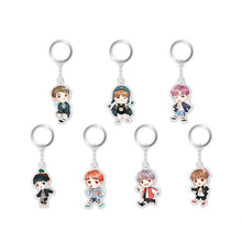 Youpop KPOP BTS Bangtan Boys Four Years 4th Anniversary Album Key Chain Cartoon Key Ring Pendant Keyring YSK396(China)