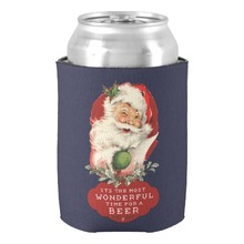 Christmas It's The Most Wonderful Time For a Beer Can Cooler Merry Christmas Gift Favors Neoprene Beverage Drink Insulators