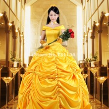 2017 Noble Yellow Off The Shoulder Victorian Sourthern Belle Long Prom Party Dress Halloween Adult Princess Dresses For Women