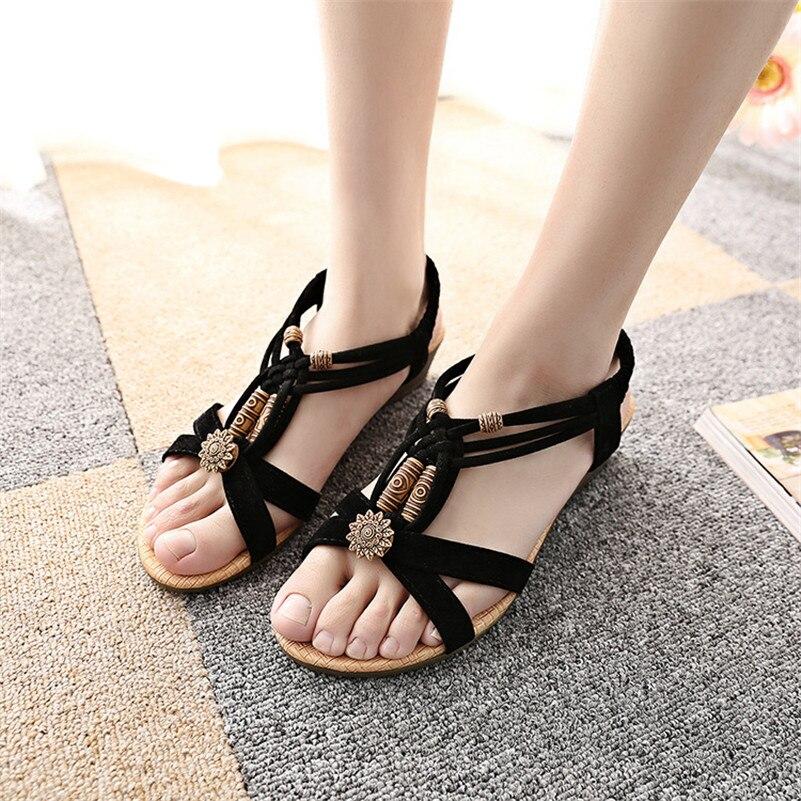 2017 Summer Fashion Women Sandals Flat Heel Flip Gladiator Brief Herringbone Flip-flop Sandals Flat Ladies Shoes zapatos mujer<br><br>Aliexpress