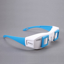 F17700 RITECH 3D Movie Mate II for 3D Movie/Picture On a Normal Monitor or TV without 3D Function PC TV Stereo Glasses Blue(China)