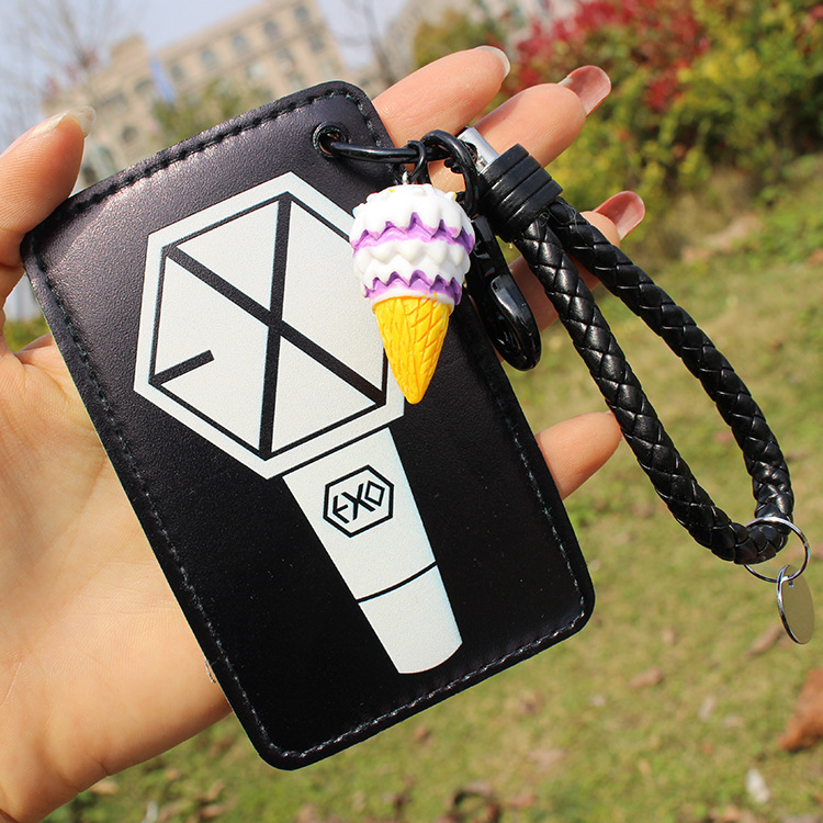Business Cards Kpop Pu Card Holder Got7 Cartoon Bus Card Holder Case Cover Office Supplies Students Gifts