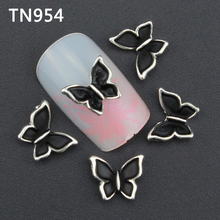 10pc Glitter Butterfly Rhinestones 3d Nail Art Decorations New Arrive, Alloy Nail Charms Jewelry for Nail Gel/Polish Tools TN954