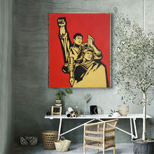 Hand painted Chinese soldiers Oil painting on canvas Chinese modern art painter Figure Painting  wall pictures decoration decor