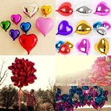 45cm Foil Red Heart Love Shap Balloon Birthday Party Wedding Air balloons Decoration Helium Supersize Marriage Ballon