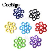 50pcs Hole 5mm Metal Mixed Color Eyelets for Leathercraft DIY Scrapbooking Shoes Belt Cap Bag Tags Clothes Fashion Accessories(China)