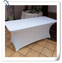 Big Discount !!!!  30pcs  Spandex 6ft. Rectangular Table Cover -30'heght(183cm*75cm*75cm)  Free Shipping