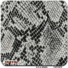TSPY675 New deisgn Top quality patterngrey snake skin Water Transfer Printing Film Hydrographic Film(China)