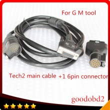 For GM TECH2 Diagnostic Tool 16 PIN Adaptor TECH 2 Scanner Tools VETRONIX TECH2 Main Test Cable with Car OBD2 16PIN Connector A