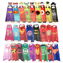 Kids Superhero and Supergirls Costumes Boys and Girls Capes with Masks Party Favor Dress Up Cosplay(China)