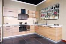 melamine/mfc kitchen cabinets(LH-ME066)(China)