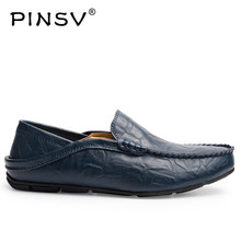 Buy PINSV Leather Shoes Men Loafers Black Moccasins Men Shoes Casual Slip Loafers Men Footwear Zapatos Hombre Plus Sizes 37-46 for $17.33 in AliExpress store