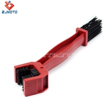 ZJMOTO Red Free Shipping Motorcycle Bike Cycling Chain Maintenance Brush Brake Remover Crankset Scrubber Bicycle Tool kits(China)