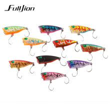 Fulljion Small Popper Floating Fishing Lures Wobbers Crankbaits for Top Water Fishing Carp Hard Baits Pesca 4cm 3g(China)