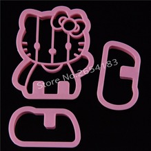 Hello Kitty Shape Plastic Plunger Cutter Fondant Cake Mold Cupcake Cookie Pastry Chocolate Biscuit Decoration Baking Tool FQ2001