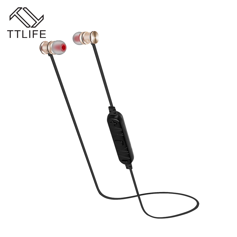 TTLIFE Magnetic Earphones Bluetooth Wireless Headsets Stereo Sport Metal Earbuds With Microphone for iPhone 7 Plus Mobile Phones<br><br>Aliexpress