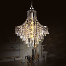 ZX Modern European Restaurant Crystal Pendant Lamp Luxury E27 LED Hall Lamp Art Creative Bedroom Living Room Indoor Chandelier