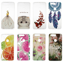 Honor 8 Case Cover Silicon Fashion Girl Cat Rose Lemon Butterfly Rubber Phone Bag Coque Capinha For Huawei Honor 8 Etui Skin Gel