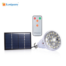 Indoor Dimmable DC6V 20 Led 2.5W remote control solar light led light outdoor garden decoration solar lamp +1W solar panel