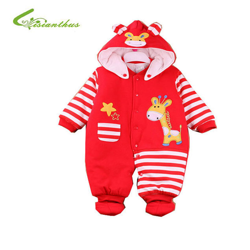 Newborn Baby Rompers Baby Warm Clothing Set Cotton Thick Hooded Baby  In Autumn and Winter Cartoon Clothes Romper Animal Style  <br><br>Aliexpress